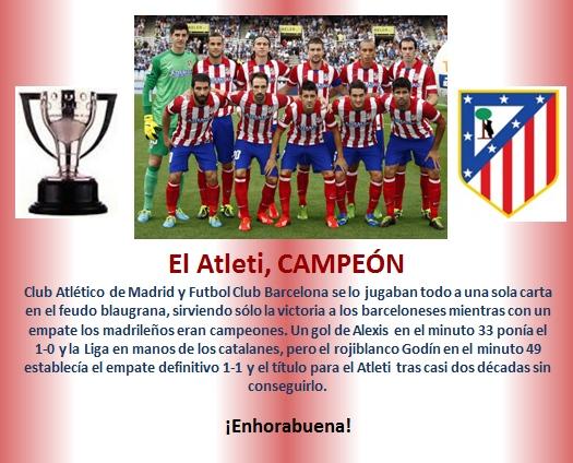 Atleti Campeon Liga 2013-2014