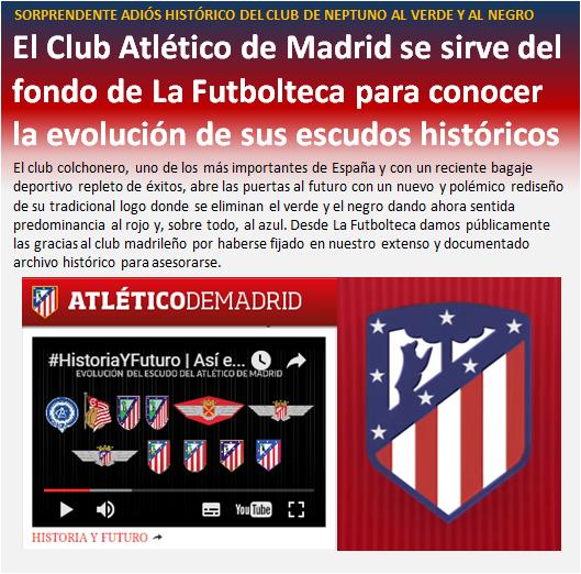 Atletico de Madrid evolucion escudos historicos