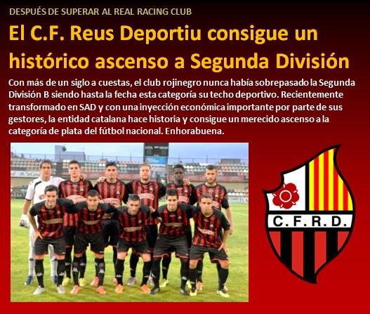 noticias CF Reus Deportiu consigue historico ascenso a Segunda
