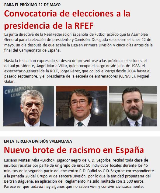 noticia Convocatoria elecciones presidencia RFEF