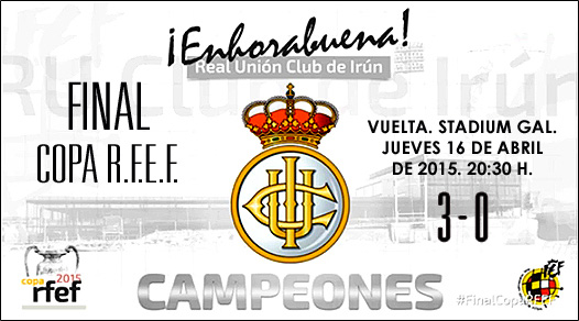 Copa RFEF 2015 Campeon Real Union