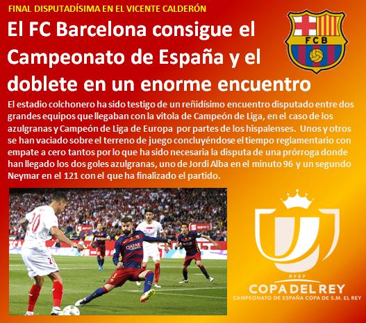 noticia FC Barcelona consigue el doblete