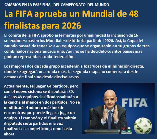 noticia FIFA aprueba Mundial de 48 finalistas