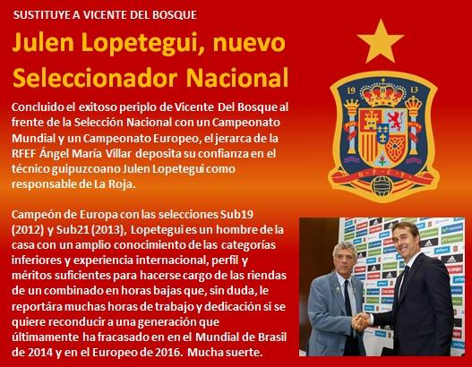 noticia Julen Lopetegui nuevo seleccionador nacional