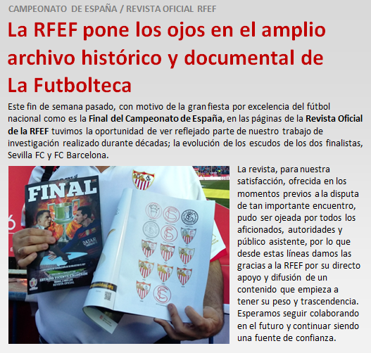 noticia La RFEF usa archivo documental LaFutbolteca