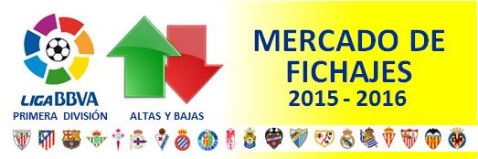 Mercado de Fichajes en Primera División 2015/2016