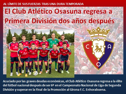 noticia Osasuna regresa a Primera