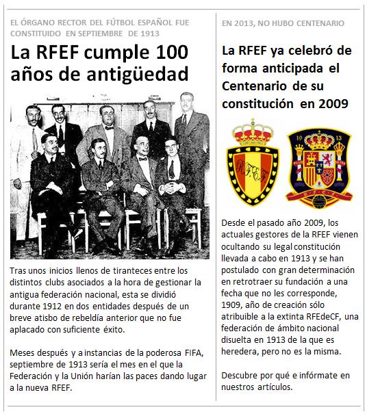 RFEF cumple 100 anos antiguedad