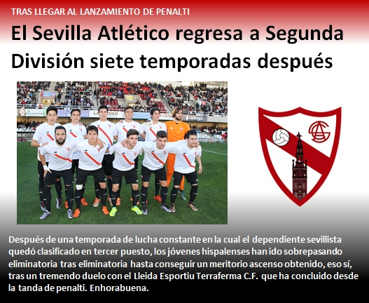 noticia Sevilla Atletico regresa a Segunda