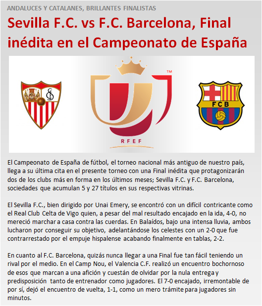 noticia Sevilla Barcelona Final Copa inedita