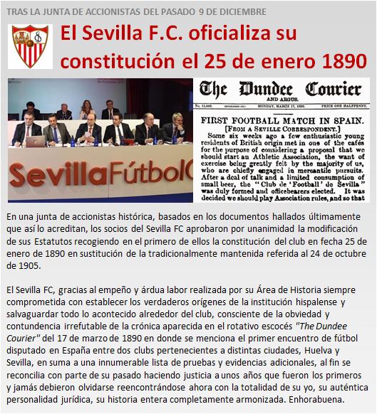 noticia Sevilla FC oficializa constitucion 1890