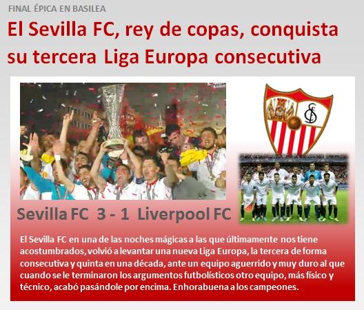 noticia Sevilla FC conquista tercera Europa League consecutiva