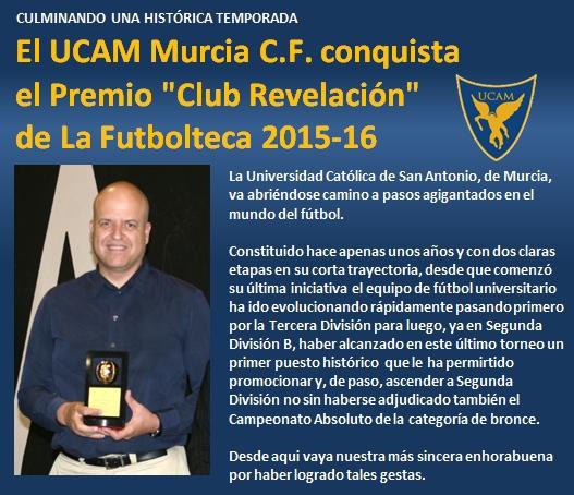 noticia UCAM Murcia CF conquista Premio Club Revelacion