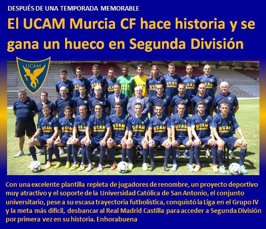 noticia UCAM Murcia CF hace historia