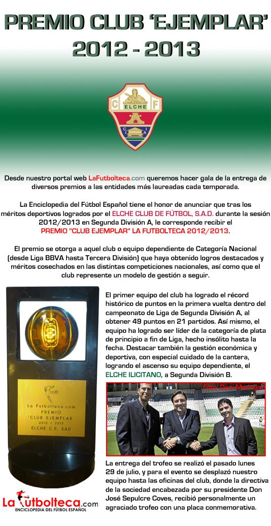 anuncio Club Ejemplar 2013 Elche