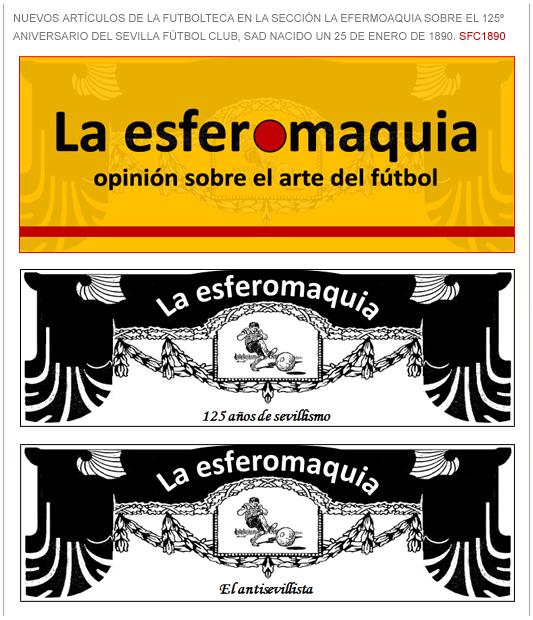 anuncio La Esferomaquia 125 aniversario SFC1890