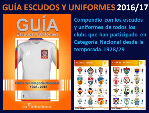 anuncio guia escudos uniformes lafutbolteca 2016