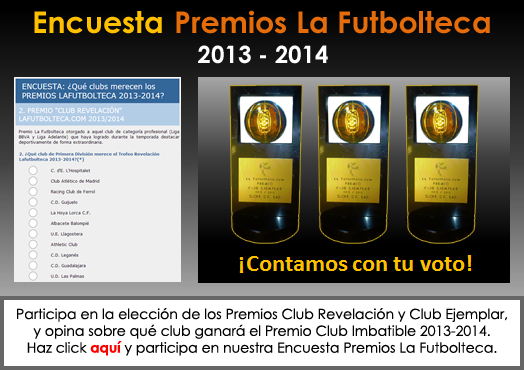 encuesta Premios LaFutbolteca