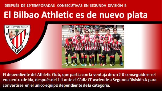 Bilbao Athletic es de nuevo plata