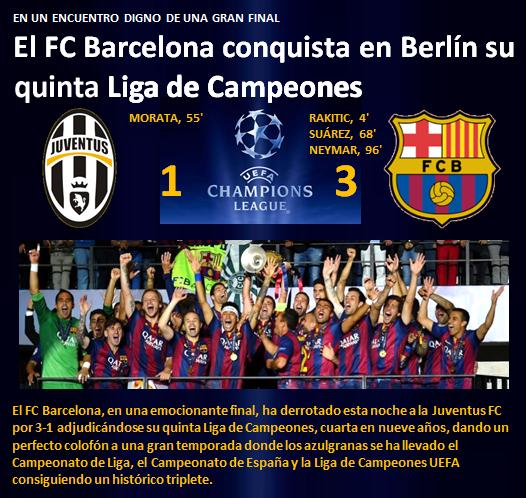 FC Barcelona gana Liga de Campeones