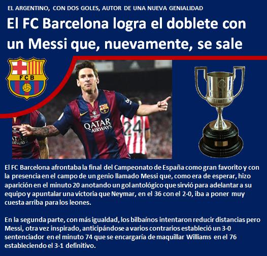 FC Barcelona logra doblete