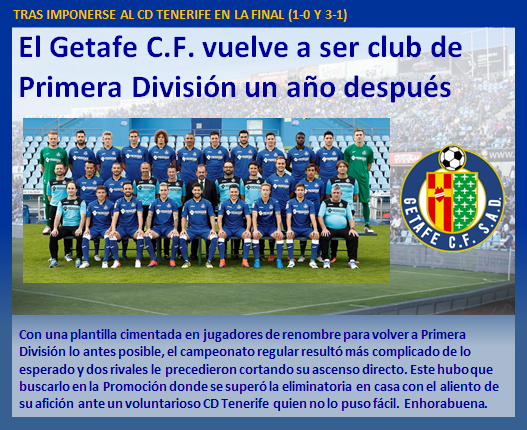 noticia Getafe CF vuelve a Primera