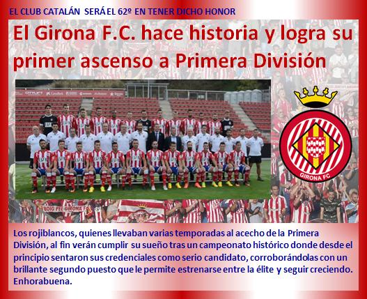 noticia Girona FC hace historia ascenso Primera Division