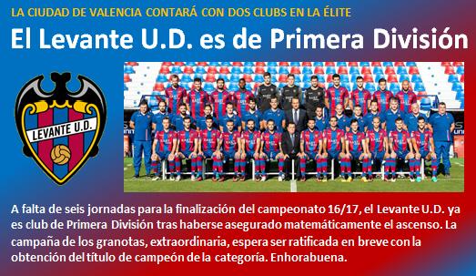 noticia Levante UD es de Primera Division