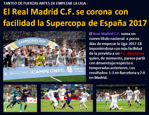 noticia Real Madrid corona Supercopa 2017