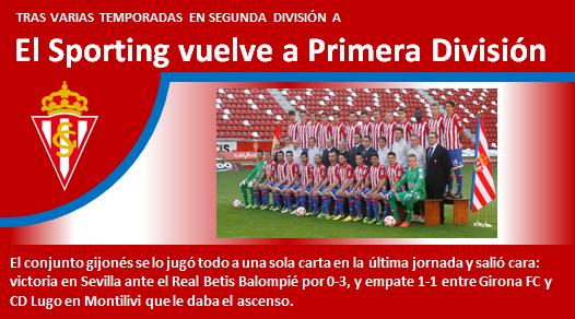 Sporting vuelve a Primera