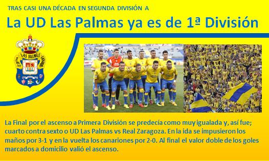 UD Las Palmas ya es de Primera
