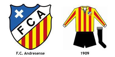escudo y uniforme FC Andresense