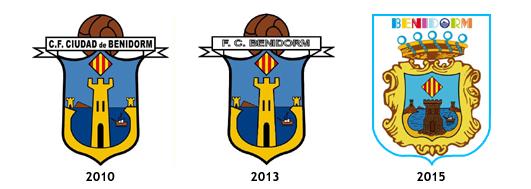 escudos CF Ciudad de Benidorm