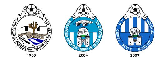 escudos AD Cerro Reyes Badajoz Atletico