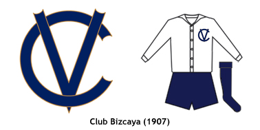 escudo y uniforme Club Bizcaya 1907