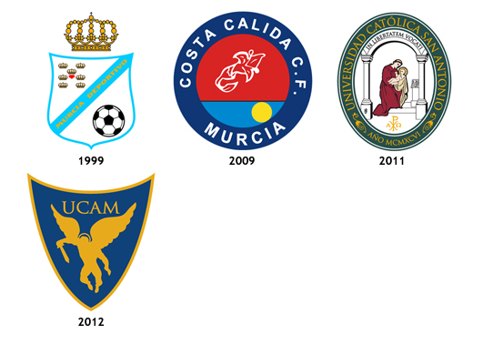 escudos UCAM Universidad Catolica de Murcia CF