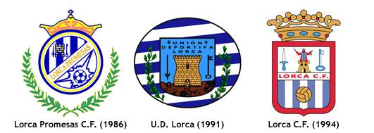 escudos Lorca CF 1994 y clubs fusionados