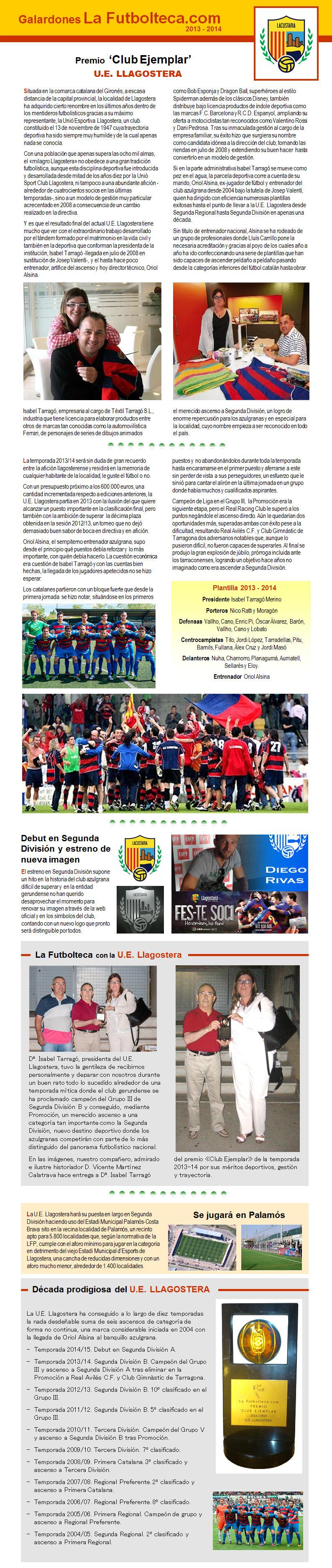 Premio Club Ejemplar La Futbolteca 2014