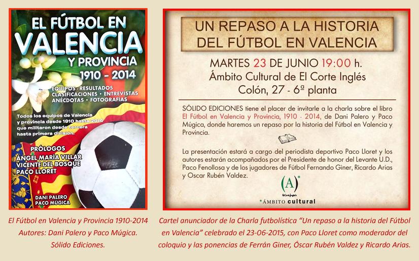 Charla futbolistica El Futbol en Valencia y Provincia