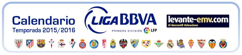 calendario primera division 2015-2016