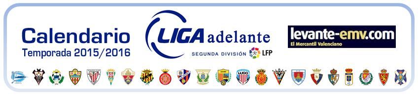 calendario segunda division a 2015-2016