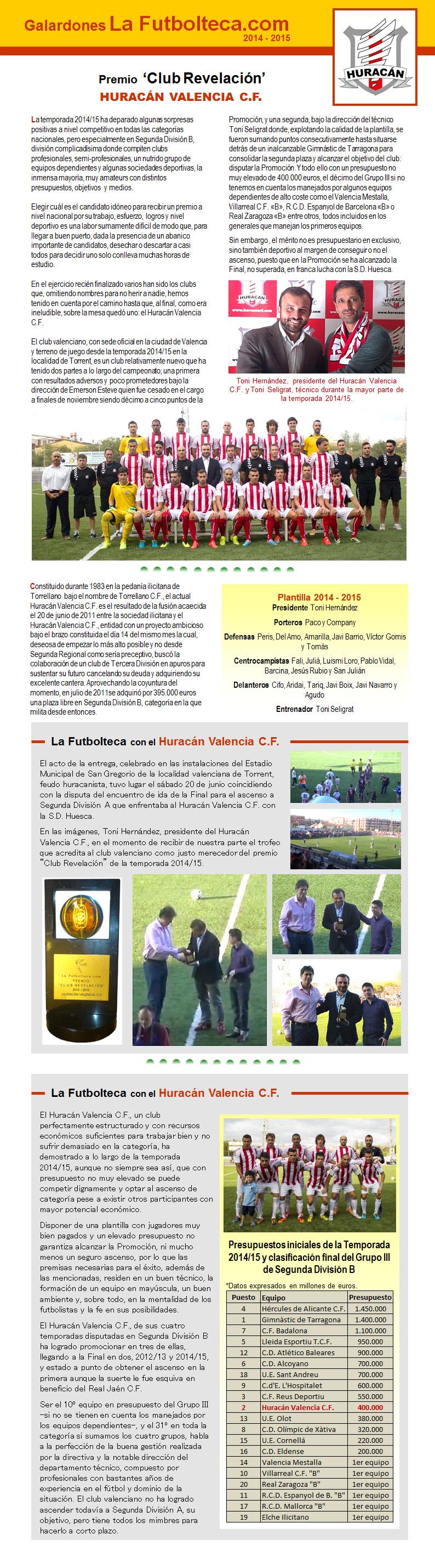 Premio Club Revelacion La Futbolteca 2015