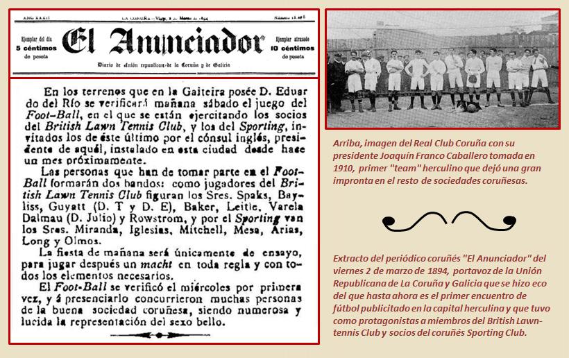 Origen del futbol en La Coruña 1894