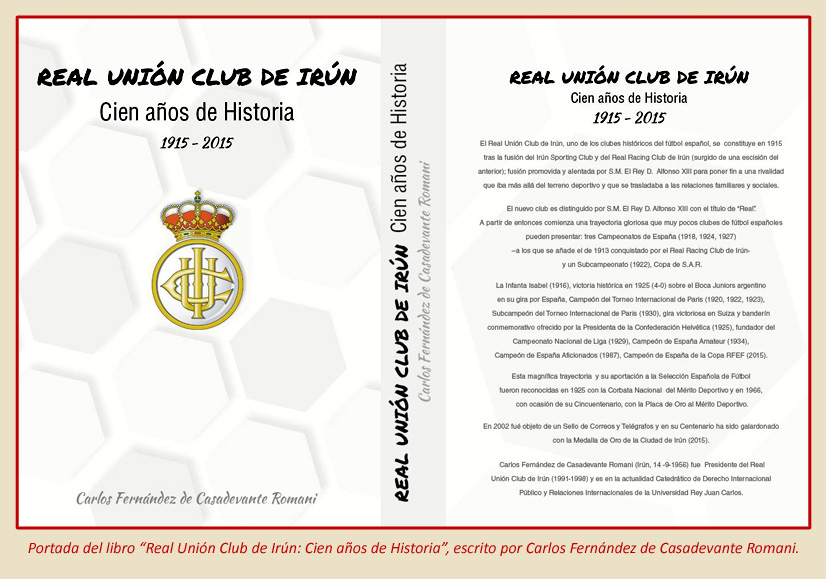 La Esferomaquia Real Union Club Irun portada