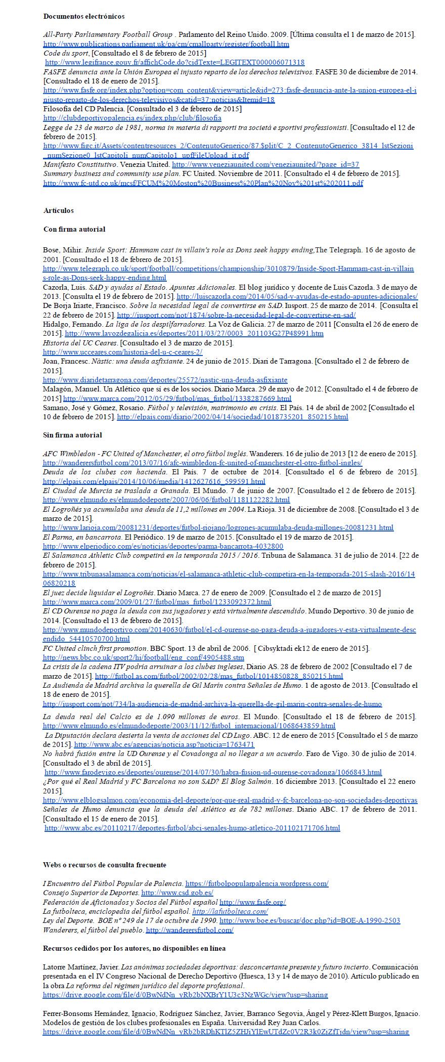 bibliografia Clubes por iniciativa popular en España