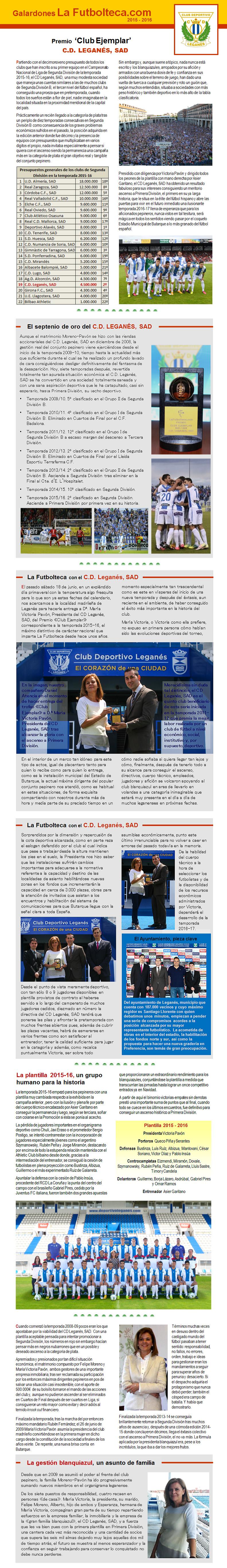 Premio Club Ejemplar La Futbolteca 2016
