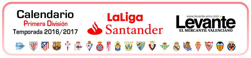 calendario primera division 2016-2017