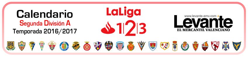 calendario segunda division 2016-2017