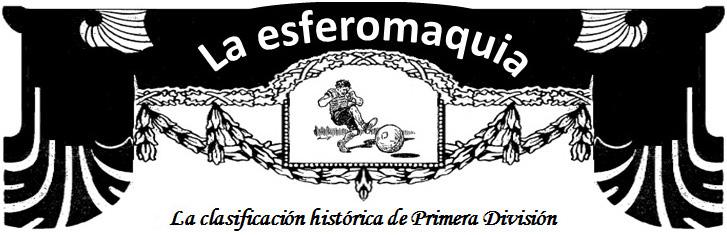 La esferomaquia La clasificacion historica de Primera Division titular