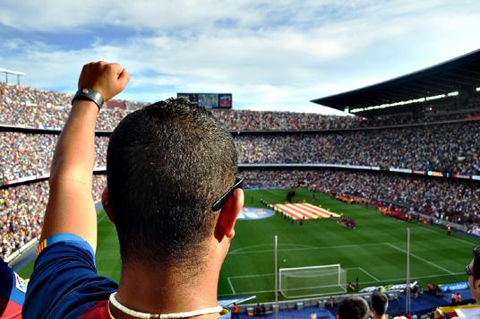 aficionado en Camp Nou